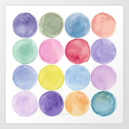 dotted and well organized Art Print