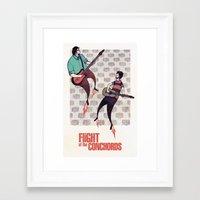 flight of the conchords Framed Art Prints featuring We Are Robots - Flight of the Conchords by iherring
