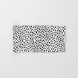 Dalmatian Spots (black/white) Hand & Bath Towel