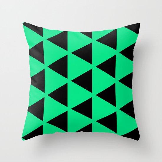 Sleyer Black on Green Pattern Throw Pillow