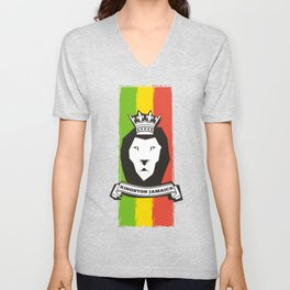 Rasta Lion Unisex V-Neck