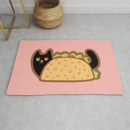 Taco Cat Black Rug