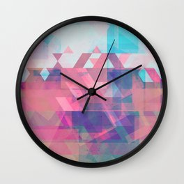 Coming Through in Waves Wall Clock