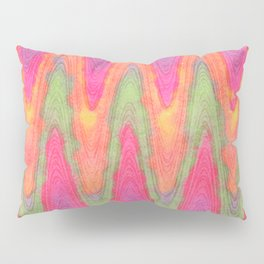 Bright Colorful Funky Retro Zigzag Waves Pattern Pillow Sham