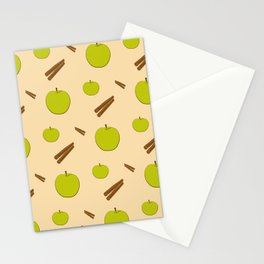 Sweet pattern with apple and cinnamon Stationery Cards