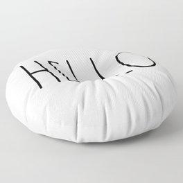 HELLO saying greeting Typography Floor Pillow