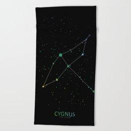 Cygnus 'The Swan' Constellation Beach Towel