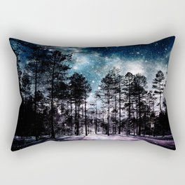 One Magical Night...(teal & lavender) Rectangular Pillow