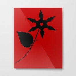 Juxtaposed Rose Metal Print