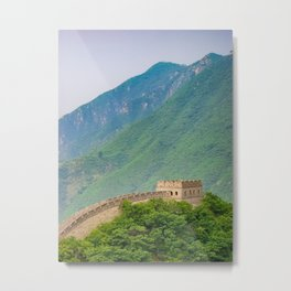 Great Wall Of China Tower Metal Print
