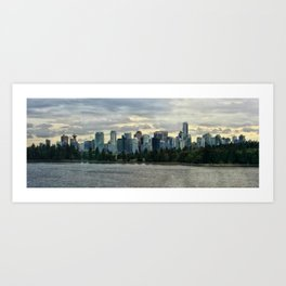 Vancouver Skyline #2 Art Print
