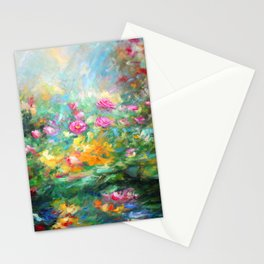 Roses paint  Stationery Cards