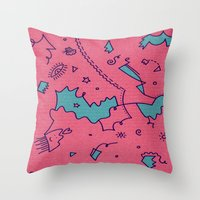 talking heads Throw Pillows featuring Talking Heads by Amanda Trader