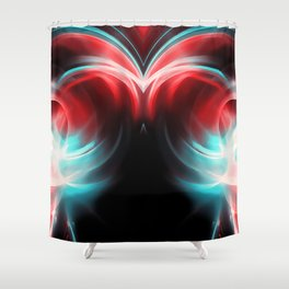 abstract fractals mirrored reac2s Shower Curtain