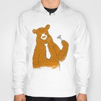 office Hoodies featuring Office Bear by Tobe Fonseca