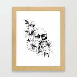 Skull Lilies Framed Art Print