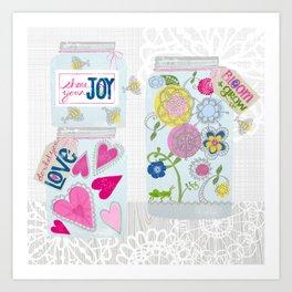 Jars of Joy Art Print