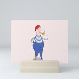 Salty men of the sea #1 Mini Art Print