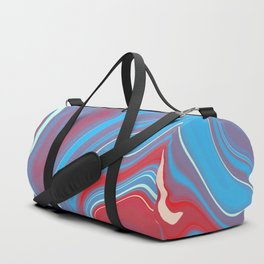 Blue Red Marble 1 Duffle Bag