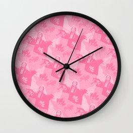 Comanche Camo Pink Wall Clock