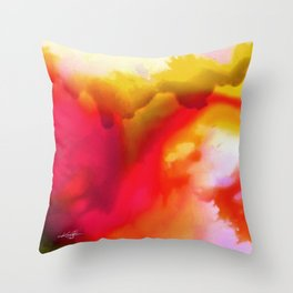 Abstract Bliss 1F by kathy Morton Stanion Throw Pillow