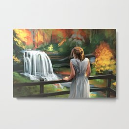 Cascade of colors Metal Print