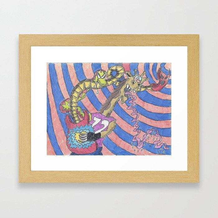 Rock Giraffe Framed Art Print