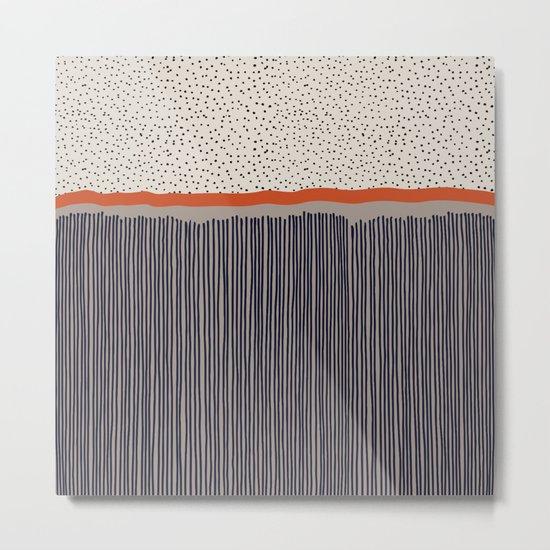 stripes and dots Metal Print