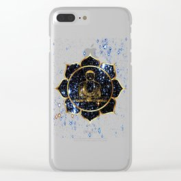 Gold funky Space Buddha Clear iPhone Case