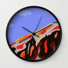 Kilahuea Lava Flows Wall Clock