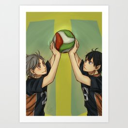 Together on the court Art Print