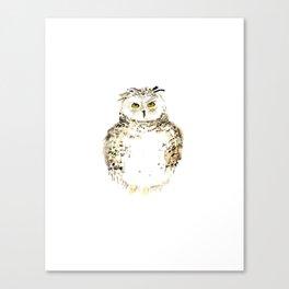 Snowy Owl watercolor Canvas Print