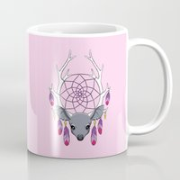 dreamcatcher Mugs featuring Dreamcatcher by Freeminds
