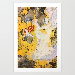 Broken Paint Art Print