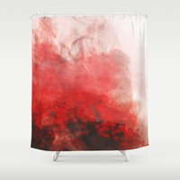 smoke Shower Curtains featuring smoke by emegi