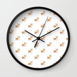 Watercolor Corgi Wall Clock