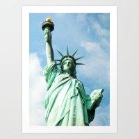 The Symbol. Staue of Liberty, New York. Art Print