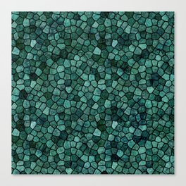 Oceanic Mosaic Crust Texture Abstract Pattern Canvas Print