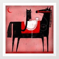 RED MOON Art Print