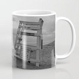 Empty Lifeguard Stand At The Beach Coffee Mug