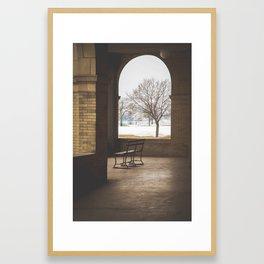 Belle Isle Casino Bench Framed Art Print