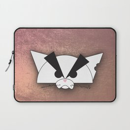 Crabby Cat - white Laptop Sleeve