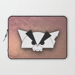 Crabby Cat - white Laptop Sleeve