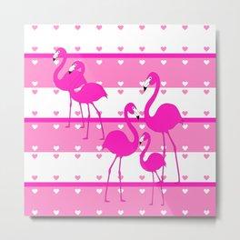 Think Pink Metal Print