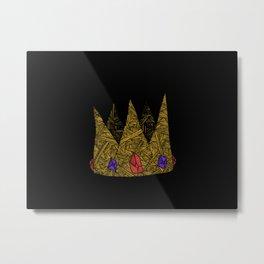A jewelled Crown Metal Print