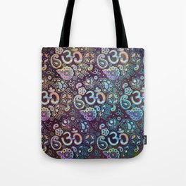 Sweet watercolor pastel  OM symbol pattern Tote Bag