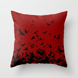 An Unkindness of Ravens Throw Pillow