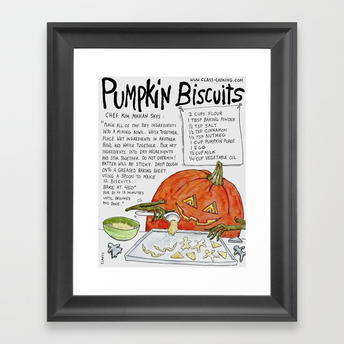 Pumpkin Biscuits Framed Art Print