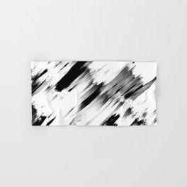 Modern Abstract Black White Brushstroke Art Hand & Bath Towel