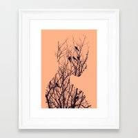 birds Framed Art Prints featuring Birds by Andreas Lie